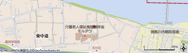 徳島県徳島市応神町古川(北)周辺の地図