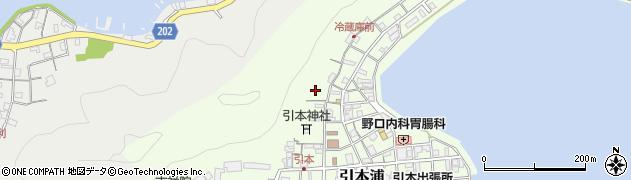 三重県紀北町(北牟婁郡)引本浦周辺の地図