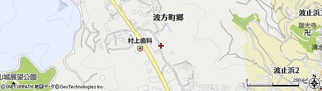 愛媛県今治市波方町郷周辺の地図
