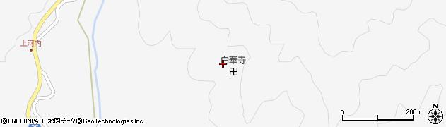 白華寺周辺の地図