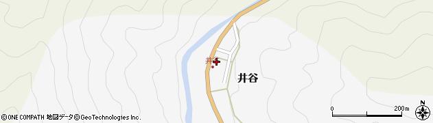 和歌山県有田郡有田川町井谷周辺の地図