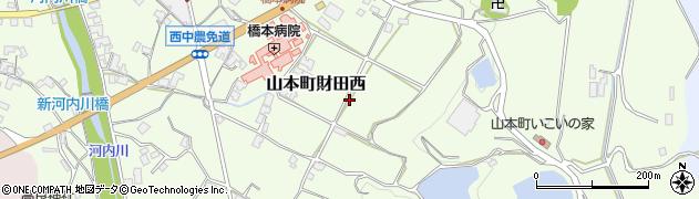 香川県三豊市山本町財田西周辺の地図