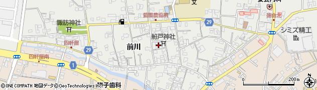 徳島県板野郡藍住町奥野前川周辺の地図