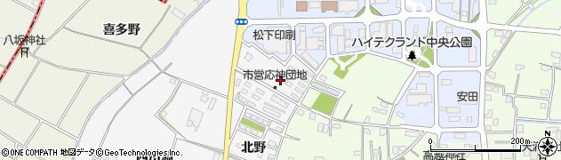 徳島県徳島市応神町東貞方(北野)周辺の地図
