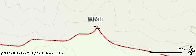 黒松山周辺の地図