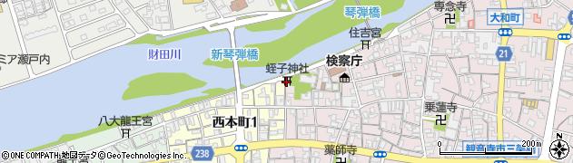 蛭子神社周辺の地図