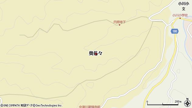〒640-1115 和歌山県海草郡紀美野町奥佐々の地図