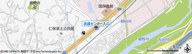 流通センター入口周辺の地図