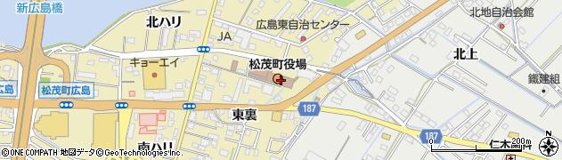 徳島県板野郡松茂町周辺の地図