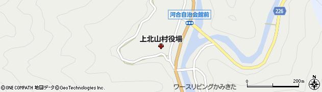 奈良県上北山村(吉野郡)周辺の地図