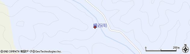 横谷周辺の地図