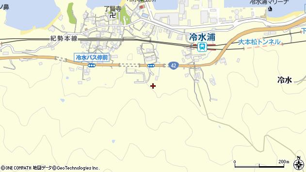 〒642-0035 和歌山県海南市冷水の地図