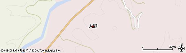山口県岩国市入野周辺の地図