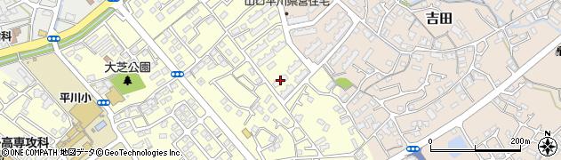 平川団地周辺の地図