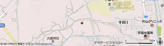 山口県岩国市平田周辺の地図