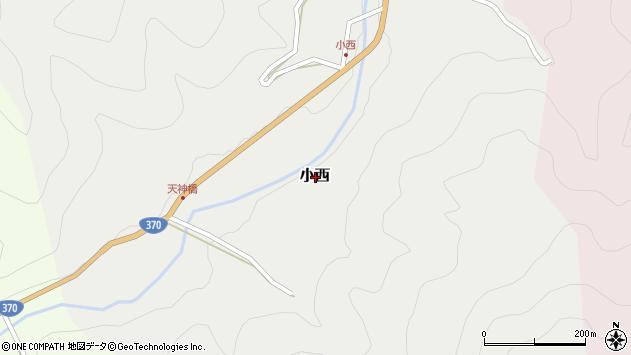 〒640-1475 和歌山県海草郡紀美野町小西の地図