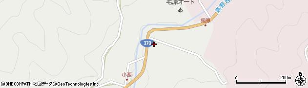 和歌山県海草郡紀美野町小西周辺の地図