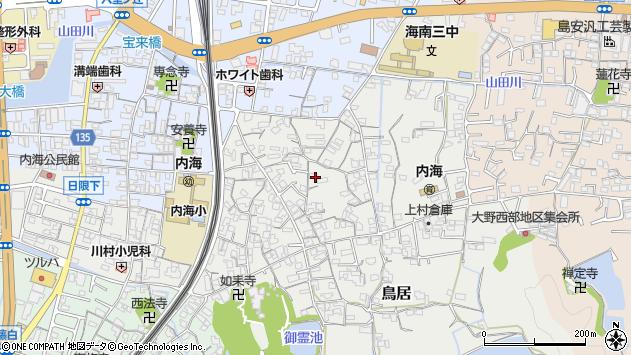 〒642-0033 和歌山県海南市鳥居の地図