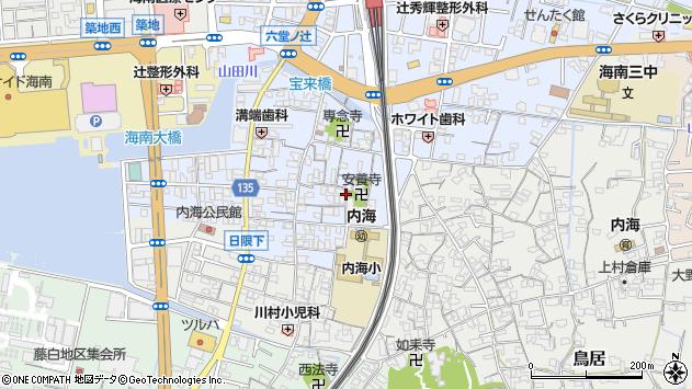 〒642-0032 和歌山県海南市名高の地図