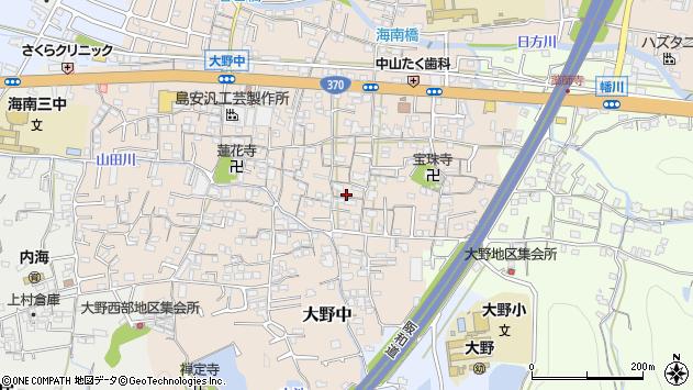 〒642-0022 和歌山県海南市大野中の地図