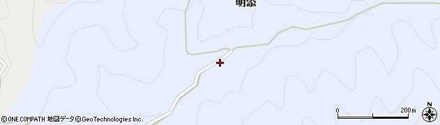 和歌山県海草郡紀美野町明添周辺の地図