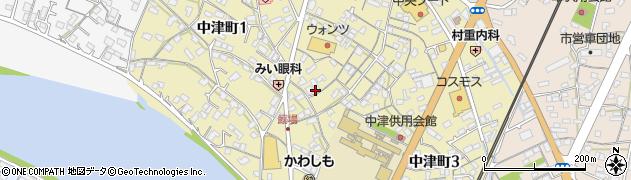 山口県岩国市中津町周辺の地図