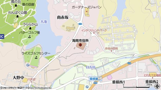 〒642-0000 和歌山県海南市(以下に掲載がない場合)の地図