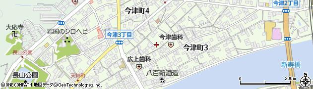 山口県岩国市今津町周辺の地図