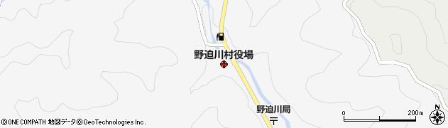 奈良県野迫川村(吉野郡)周辺の地図