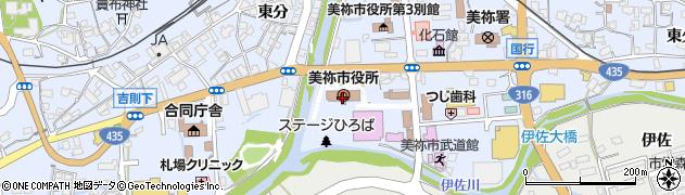 山口県美祢市周辺の地図