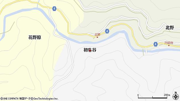 〒640-1202 和歌山県海草郡紀美野町初生谷の地図