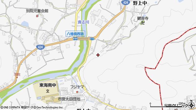 〒640-1171 和歌山県海南市野上中の地図