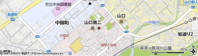 山口県山口市三和町周辺の地図