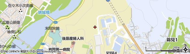 山口県岩国市岩国周辺の地図