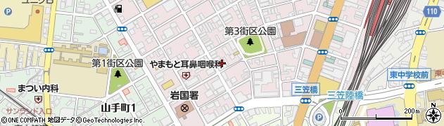 自遊空間 岩国駅前店周辺の地図