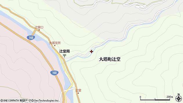 〒637-0408 奈良県五條市大塔町辻堂の地図