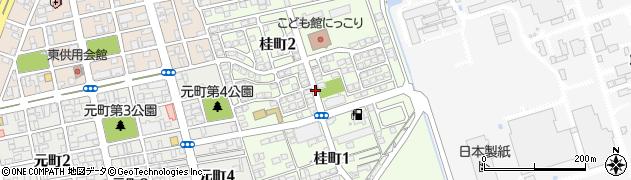 山口県岩国市桂町周辺の地図