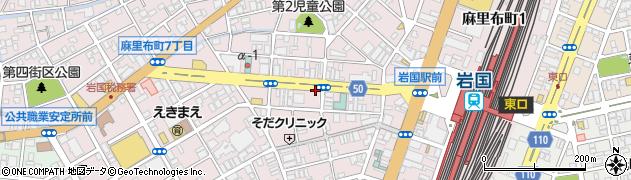 山口県岩国市麻里布町周辺の地図