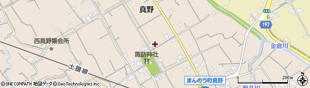 香川県仲多度郡まんのう町真野上真野周辺の地図
