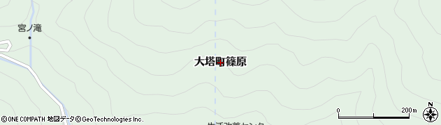 奈良県五條市大塔町篠原周辺の地図