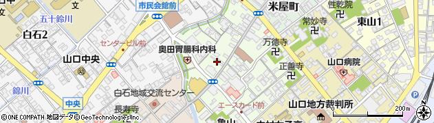 山口県山口市道場門前周辺の地図