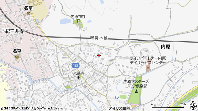 〒641-0013 和歌山県和歌山市内原の地図