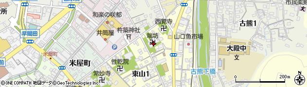端坊周辺の地図