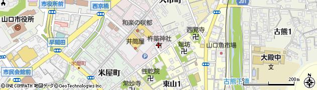 杵築神社周辺の地図