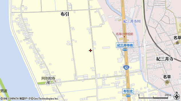 〒641-0015 和歌山県和歌山市布引の地図