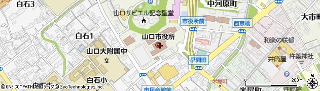 山口県山口市周辺の地図