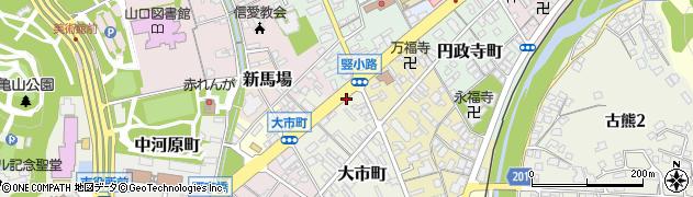 山口県山口市大市町大市・諸願周辺の地図