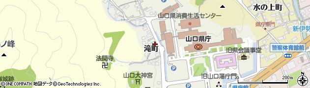 山口県山口市滝町周辺の地図