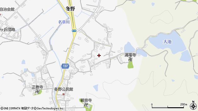 〒640-0332 和歌山県和歌山市冬野の地図