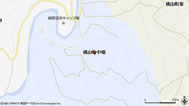 〒640-1332 和歌山県紀の川市桃山町中畑の地図